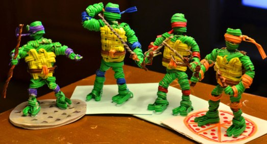 Teenage-Mutant-Ninja-Turtles-made-from-twist-ties